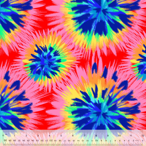 Tie Die Fleece - Priced by the Half Yard - brewstitched.com