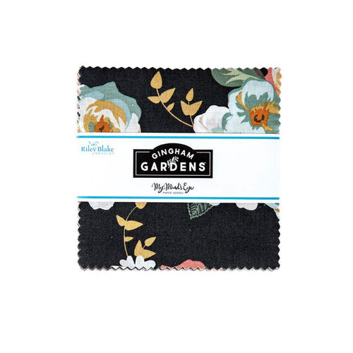 "Gingham Gardens 5"" Stacker - brewstitched.com"