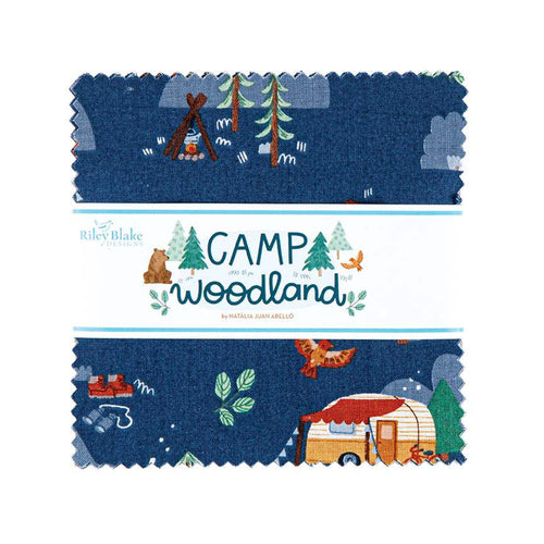 "Camp Woodland 5"" Charm Pack Stacker - brewstitched.com"