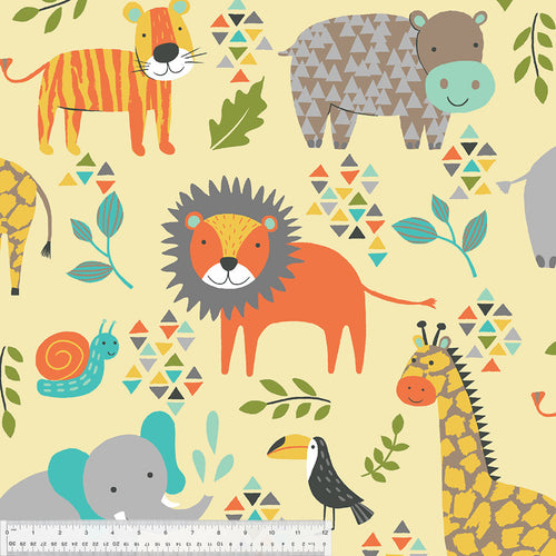 Jungle Animals on Fleece - Priced by the Half Yard - brewstitched.com