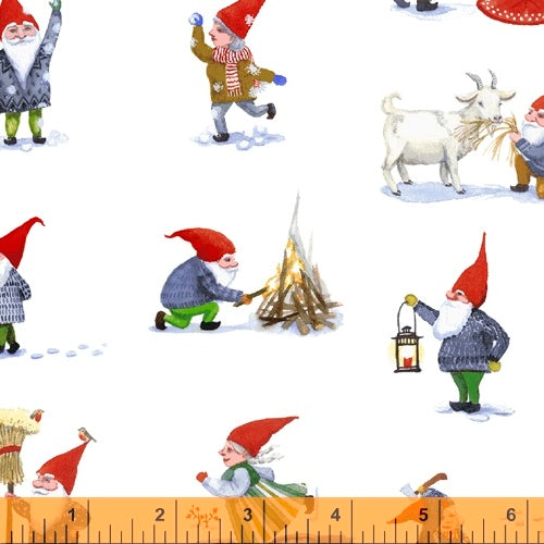 Winter Gnomes Snow White Winter Gnomes - Priced by the Half Yard - Coming June 2020 - brewstitched.com