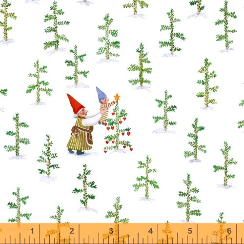 Winter Gnomes Snow White Tree Farm - Priced by the Half Yard - Coming June 2020 - brewstitched.com