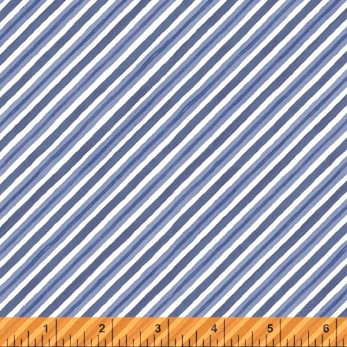 Winter Gnomes Nordic Blue Diagonal Stripe - Priced by the Half Yard - Coming June 2020 - brewstitched.com