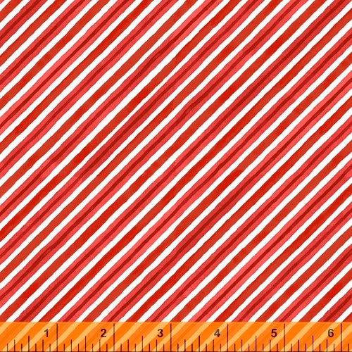 Winter Gnomes Red Diagonal Stripe - Priced by the Half Yard - Coming June 2020 - brewstitched.com