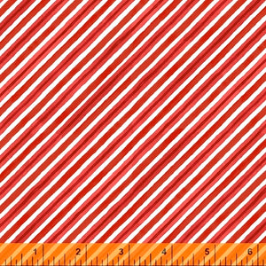 Winter Gnomes Red Diagonal Stripe - Priced by the Half Yard - brewstitched.com