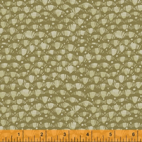 Fox Woods Lea Olive - Priced by the Half Yard - brewstitched.com