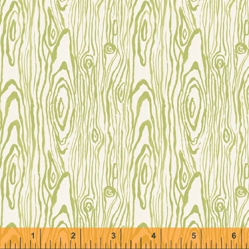 Fox Woods Faux Bois Green - Priced by the Half Yard - brewstitched.com