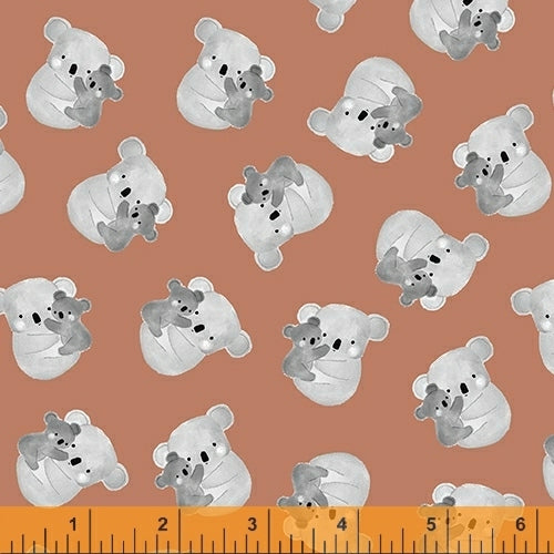 Kenzie Rust Hugs & Kisses - Priced by the Half Yard - brewstitched.com