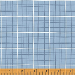 Kenzie Cornflower Windowpane - Priced by the Half Yard - brewstitched.com