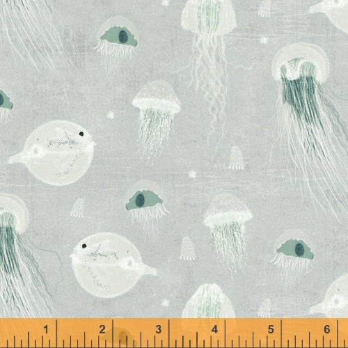 Whale Tales Surf Jellyfish - Priced by the Half Yard - brewstitched.com