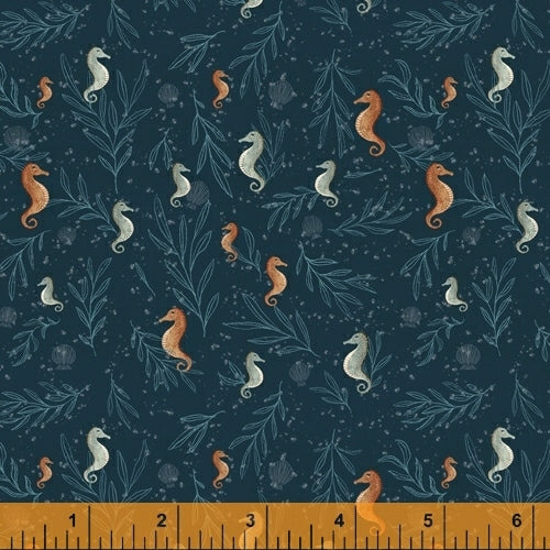 Whale Tales Ocean Seahorses - Priced by the Half Yard - brewstitched.com