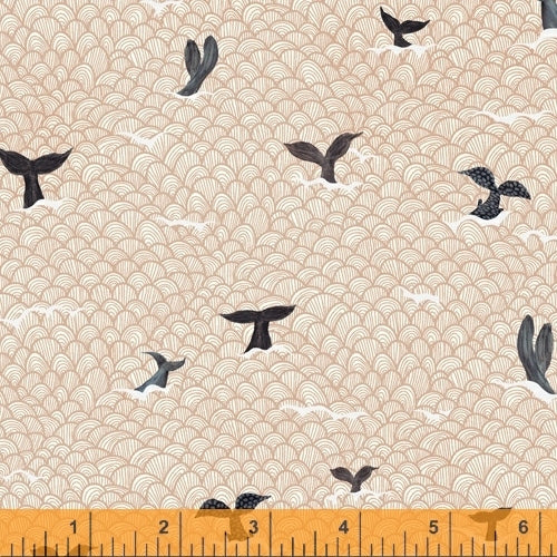 Whale Tales Shell Whale Tails - Priced by the Half Yard - brewstitched.com
