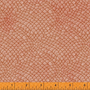 Whale Tales Coral Waves  - Priced by the Half Yard - brewstitched.com