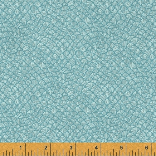 Whale Tales Aqua Waves - Priced by the Half Yard - brewstitched.com