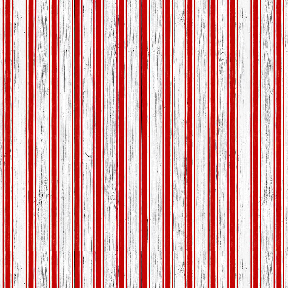 Christmas Memories Candy Cane Stripe - Priced by the Half Yard - brewstitched.com