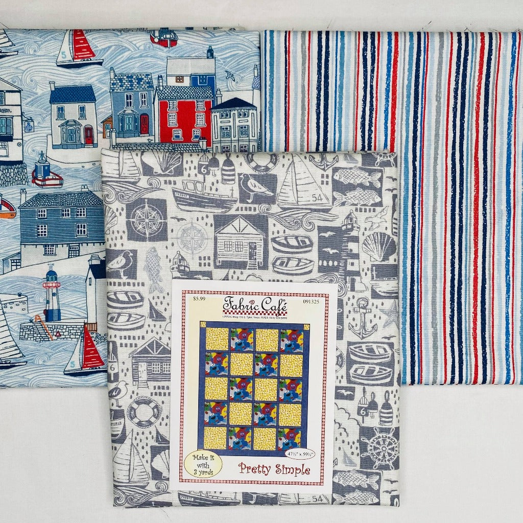Sail Away Pretty Simple 3 Yard Quilt Kit - brewstitched.com