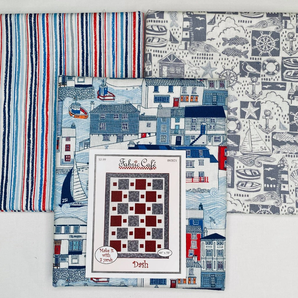 Sail Away Dash 3 Yard Quilt Kit - brewstitched.com