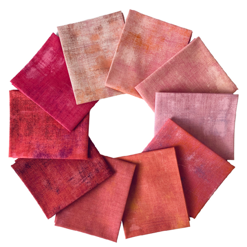Grunge Pinks Fat Quarter Bundle - Includes 10 Prints - brewstitched.com