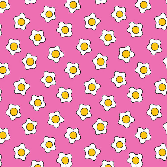 The Coop Fried Eggs in Pink - Priced by the Half Yard - brewstitched.com