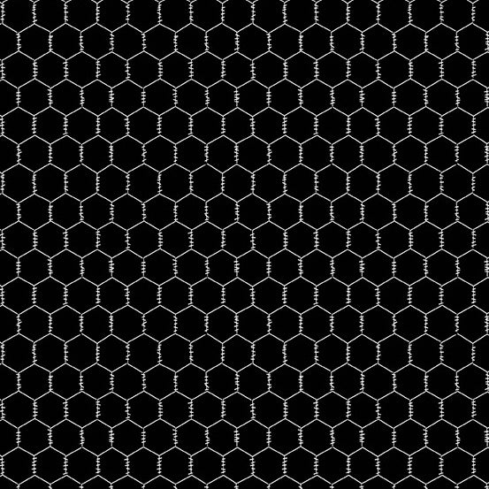 The Coop Chicken Wire in Black - Priced by the Half Yard - brewstitched.com