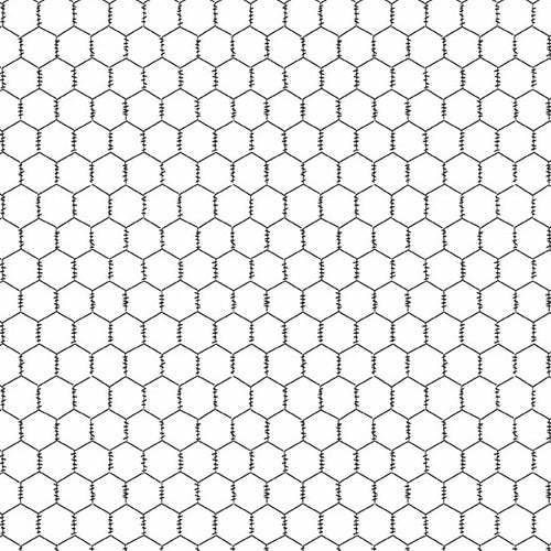 The Coop Chicken Wire in White - Priced by the Half Yard - brewstitched.com