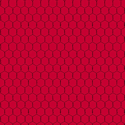 The Coop Chicken Wire in Red - Priced by the Half Yard - brewstitched.com