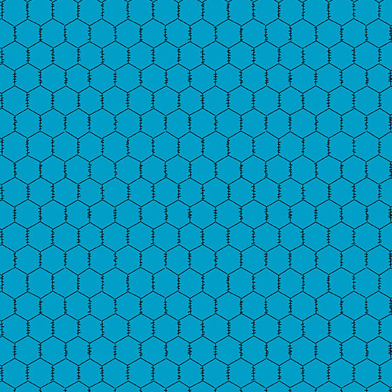 The Coop Chicken Wire in Teal - Priced by the Half Yard - brewstitched.com