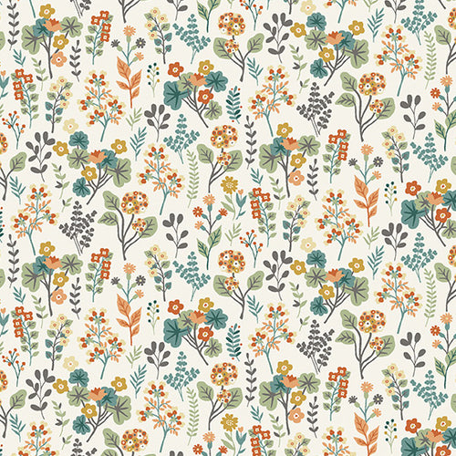 Clara's Garden Plants on Off White - Priced by the Half Yard - brewstitched.com
