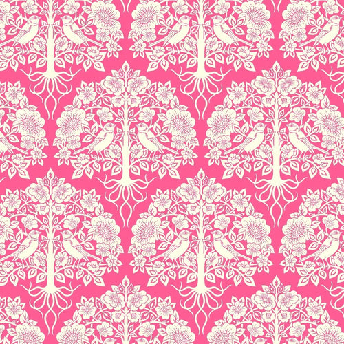 True Kisses Damask Pink - Priced by the Half Yard - brewstitched.com