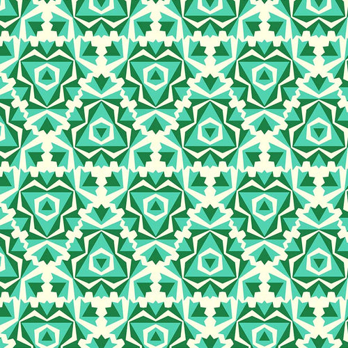 True Kisses Kaleidoscope Green - Priced by the Half Yard - brewstitched.com