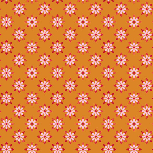 True Kisses Floral Orange - Priced by the Half Yard - brewstitched.com