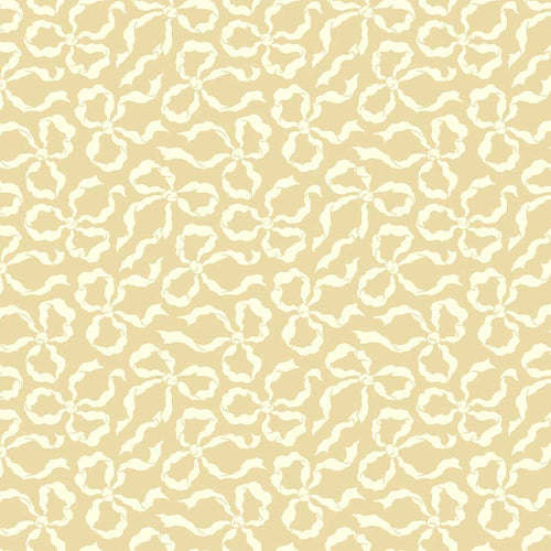 True Kisses Bows Tan - Priced by the Half Yard - brewstitched.com