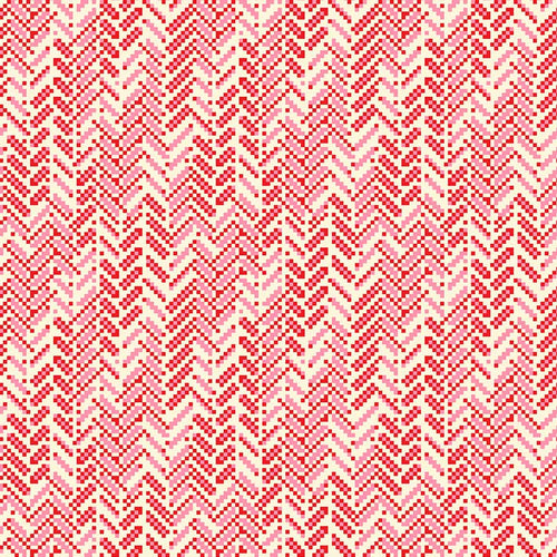 True Kisses Herringbone Red - Priced by the Half Yard - brewstitched.com