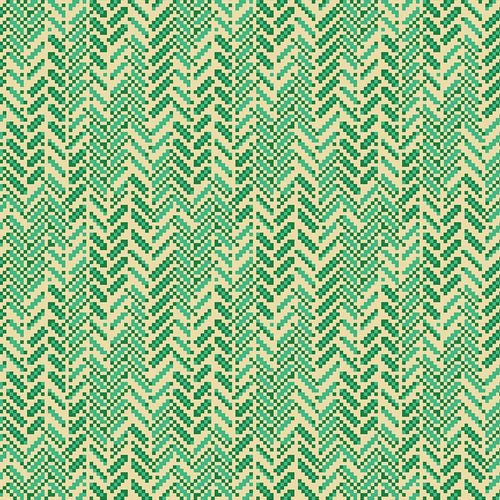 True Kisses Herringbone Green - Priced by the Half Yard - brewstitched.com