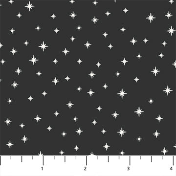 Peppermint Stars on Black - Priced by the Half Yard - Expected June 2021 - brewstitched.com