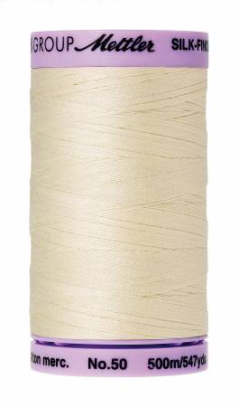 Mettler 50 weight Cotton Thread in Antique White # 9104-3612 - brewstitched.com