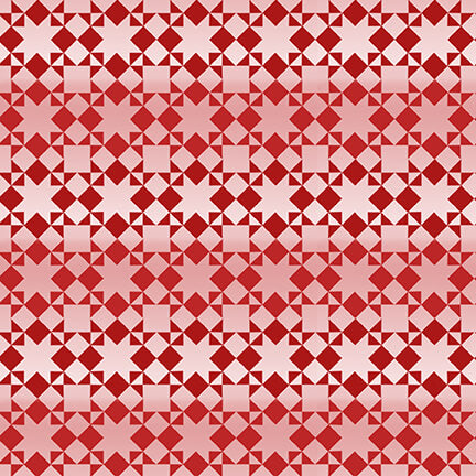 Holiday Heartland Red Small Monotone Quilt Pattern - Priced by the Half Yard - brewstitched.com