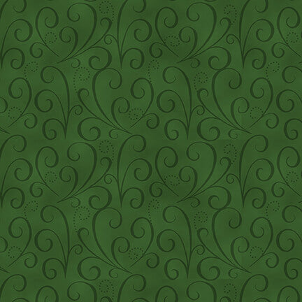 Holiday Heartland Green Tonal Swirl - Priced by the Half Yard - brewstitched.com
