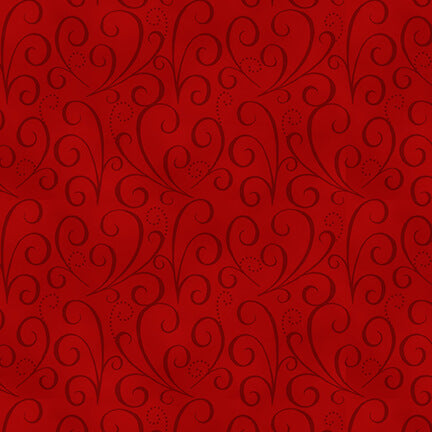 Holiday Heartland Red Tonal Swirl - Priced by the Half Yard - brewstitched.com