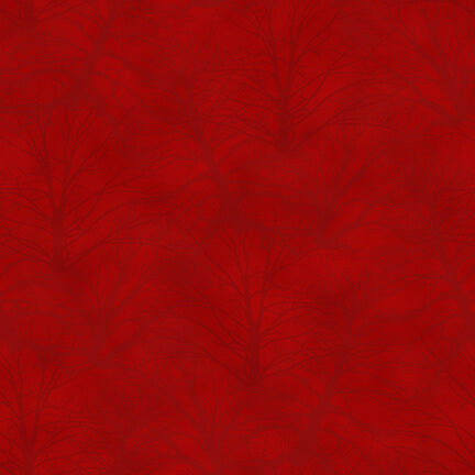 Holiday Heartland Red Trees Tonal Tossed - Priced by the Half Yard - brewstitched.com
