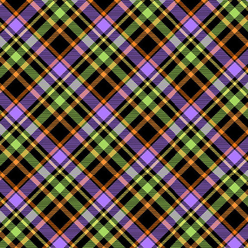 Glow Ghosts Plaid on Bias - Priced by the Half Yard - EXPECTED Mar 2021 - brewstitched.com