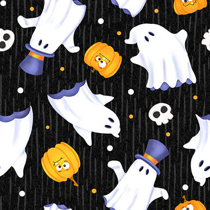 Glow Ghosts Tossed Ghosts - Priced by the Half Yard - EXPECTED Mar 2021 - brewstitched.com