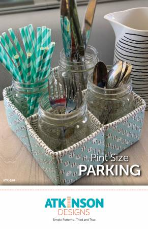 Pint Size Parking Paper Pattern from Atkinson Designs - brewstitched.com