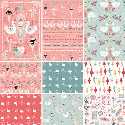 Bella Ballerina Half Yard Bundle - Includes 8 Prints + 1 Panel - brewstitched.com