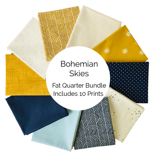 Bohemian Skies Fat Quarter Bundle - Includes 10 Prints - brewstitched.com