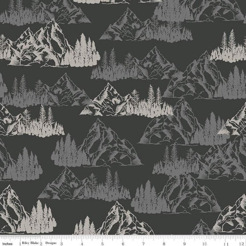 Timberland Mountains Charcoal - Priced by the Half Yard - Expected Feb 2021 - brewstitched.com