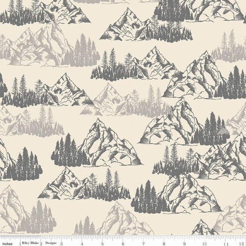 Timberland Mountains Cream - Priced by the Half Yard - Expected Feb 2021 - brewstitched.com
