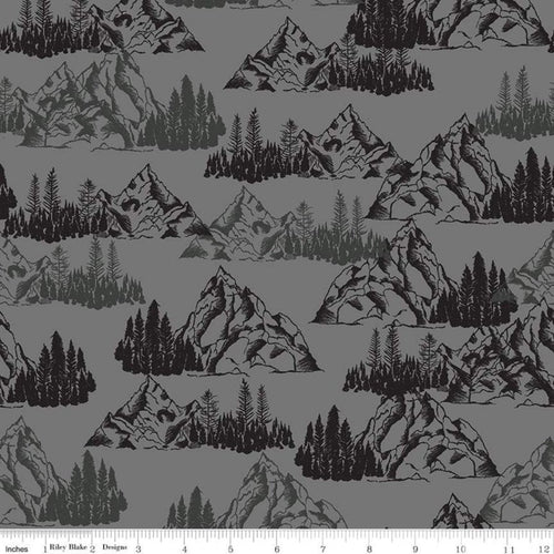 Timberland Mountains Gray - Priced by the Half Yard - Expected Feb 2021 - brewstitched.com
