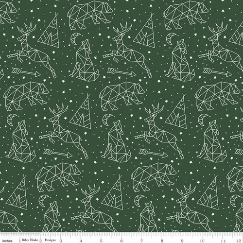 Adventure is Calling Stargazing Green - Priced by the Half Yard - Expected June 2021 - brewstitched.com