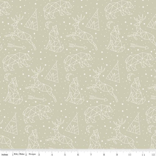 Adventure is Calling Stargazing Khaki - Priced by the Half Yard - Expected June 2021 - brewstitched.com
